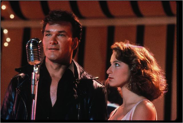 "Patrick Swayze et Jennifer Grey dans ""Dirty Dancing""."