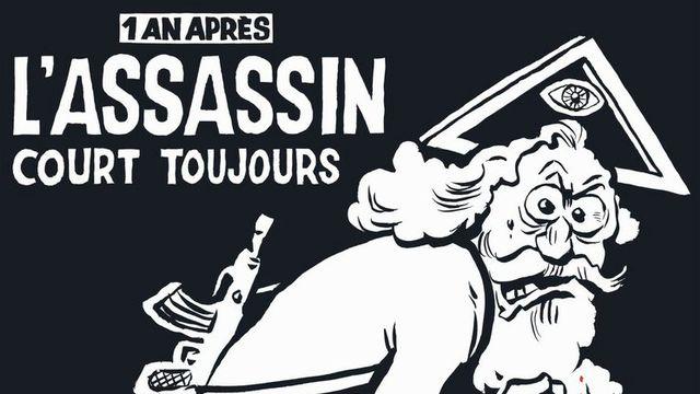 """La Une du numéro spécial """"anniversaire"""" de Charlie Hebdo. [EPA/Charlie Hebdo/Majorelle]"""
