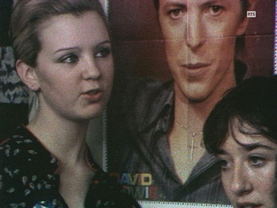 Le fan's club de David Bowie en Suisse en 1979. [RTS]