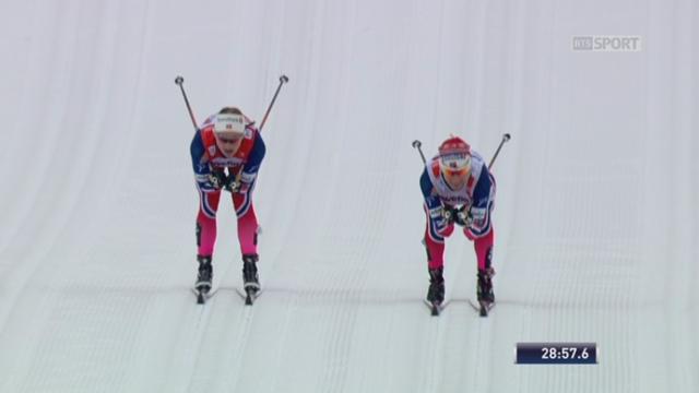 10km dames : Heidi Weng, première d'un podium 100% norvégien devant ses cmopatriotes Ingvild Flugstad Oestberg et Therese Johaug [RTS]