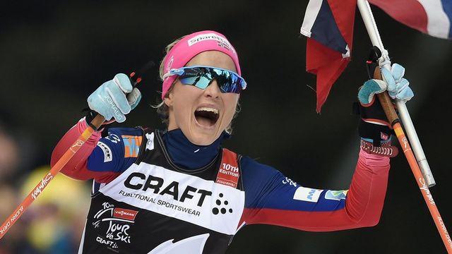 Therese Johaug a su faire la différence lors de la dernière étape du Tour de Ski. [Claudio Onorati - Keystone]
