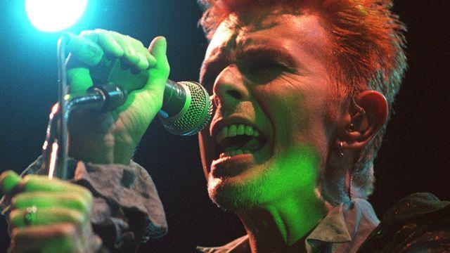 David Bowie en concert en le 14 juillet 1996. [APA/Schneider Harald - Keystone]