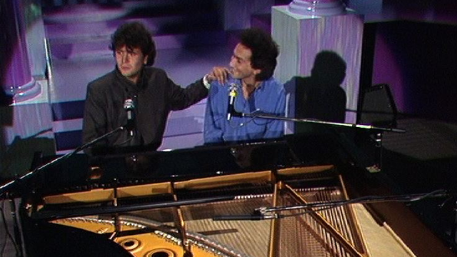 Daniel Balavoine et Michel Berger en 1984. [RTS]