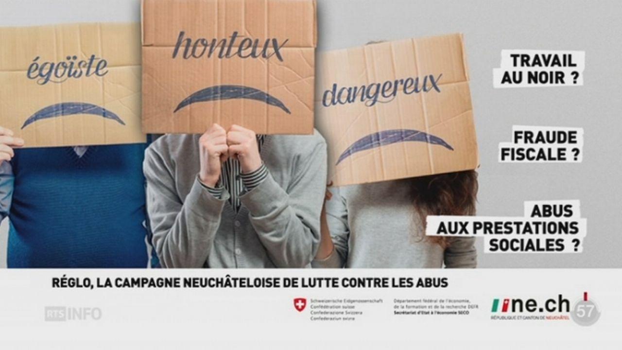 Neuchâtel veut inciter les citoyens qui abusent de l'aide sociale à se régulariser [RTS]
