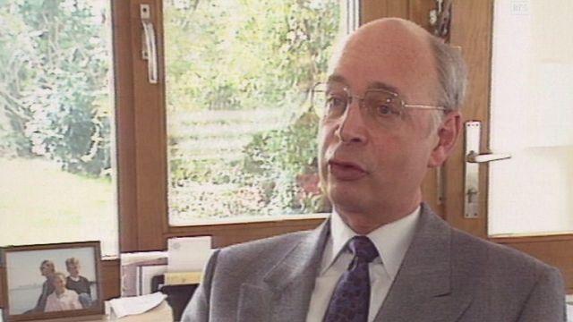 Klaus Schwab, fondateur et directeur du World Economic Forum (WEF). [RTS]