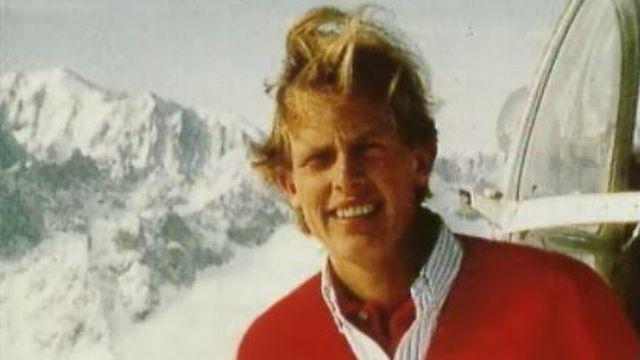 François-Xavier Bagnoud est décédé à l'âge de 24 ans dans un accident d'hélicoptère. [RTS]