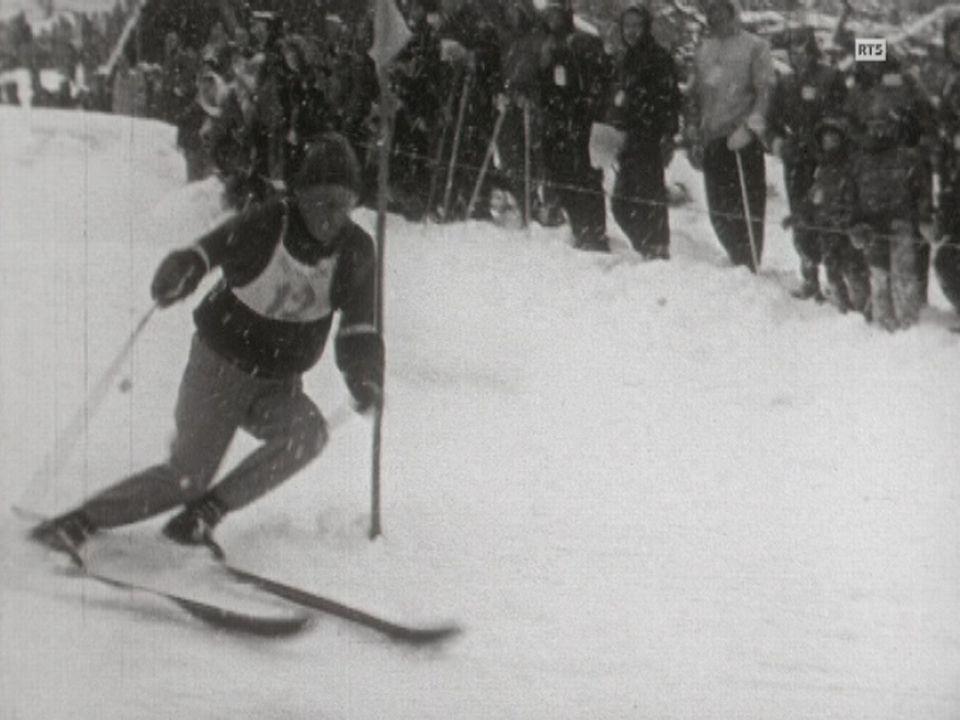 Slalom spécial messieurs des épreuves du Lauberhorn en 1958. [RTS]