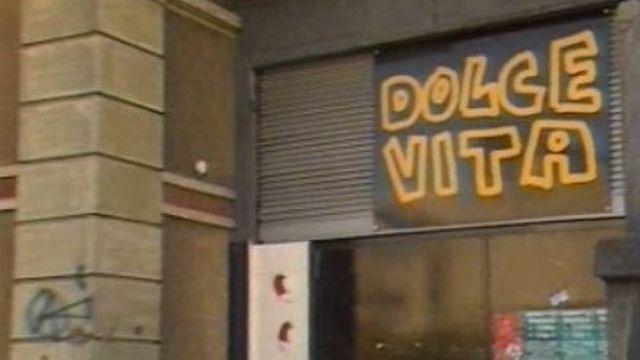L'enseigne du centre alternatif de Dolce vita à Lausanne. [RTS]