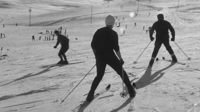Pistes de la station de ski de Leysin, 1967. [RTS]