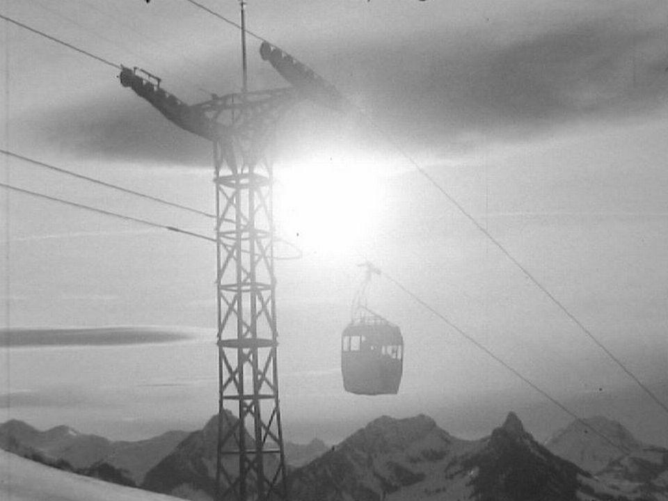 Télécabines de Charmey en 1967. [RTS]