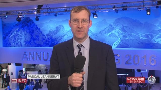 Forum économique mondial de Davos: le point avec Pascal Jeannerat à Davos [RTS]