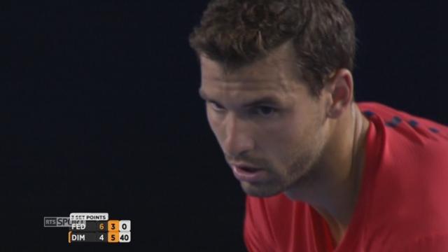 3e tour, Roger Federer (SUI) - Grigor Dimitrov (BUL) (6-4, 3-6): 2e set en faveur de Dimitrov [RTS]