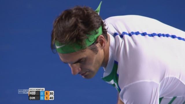 3e tour, Roger Federer (SUI) - Grigor Dimitrov (BUL) (6-4, 3-6, 6-1): Federer déroule la 3e manche [RTS]