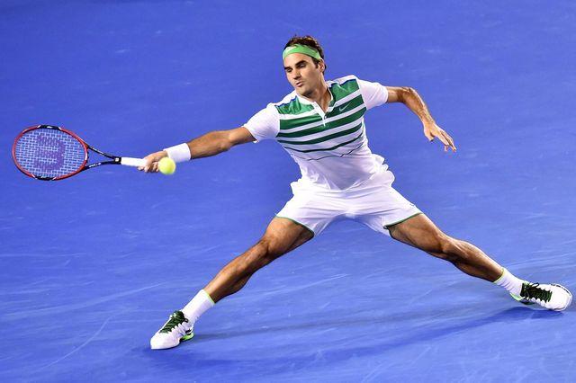 Roger Federer défiera le Belge David Goffin au prochain tour. [Julian Smith - Keystone]