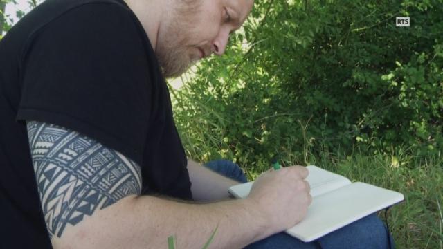 Larcenet dessine et évoque Cosey. [RTS]