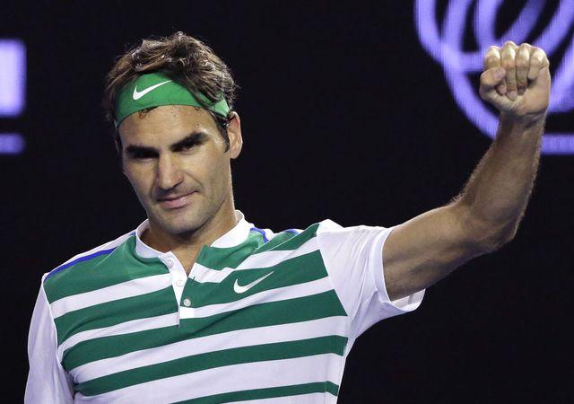 Roger Federer a franchi ce vendredi une barre symbolique en Grand Chelem. [Aaron Favila - AP/keystone]