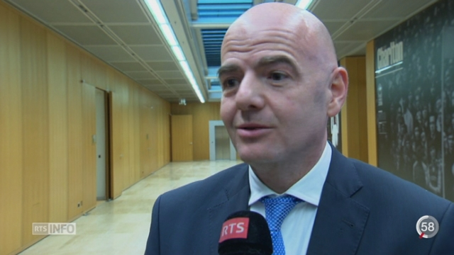 Football: Gianni Infantino devient le favori à la présidence de de la FIFA [RTS]