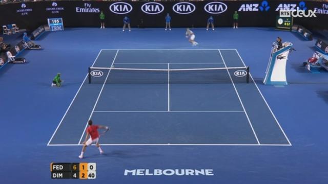 Tennis: Roger Federer remporte sa 300e victoire en Grand Chelem face au Bulgare Dimitrov [RTS]