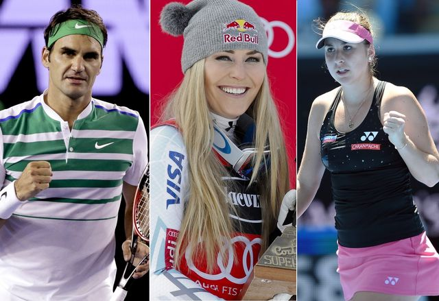 Le top-3 du dimanche 24 janvier: Roger Federer, Lindsey Vonn et Belinda Bencic. [A.Fvaila/A.Trovati/L.Coch - Keystone]