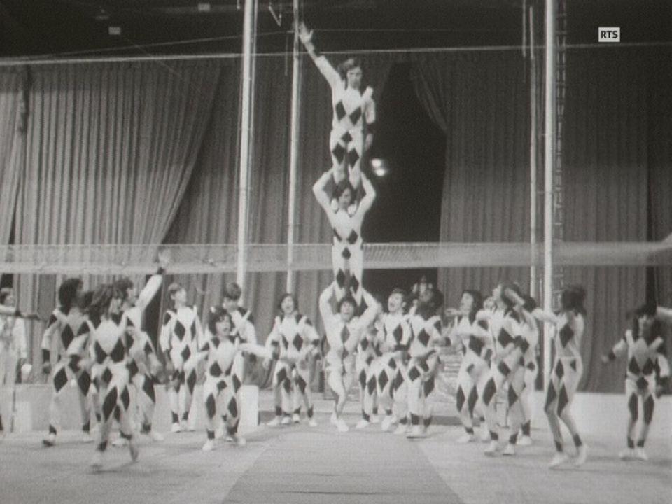 L'école de cirque des Muchachos à Genève en 1971. [RTS]