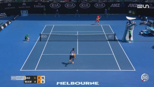 Tennis - Open d'Australie: Stan Wawrinka a été éliminé en 8es de finale par Milos Raonic [RTS]