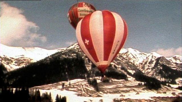 Montgolfières à Château-d'Oex en 1983. [RTS]