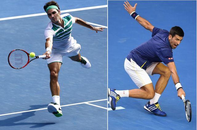 Roger Federer et Novak Djokovic se sont affrontés 44 fois. 22 partout, balle au centre. [R.Maqbool/L.Coch - Keystone]