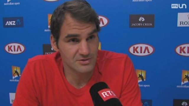 Tennis - Open d'Australie: Roger Federer remporte facilement la victoire face à David Goffin [RTS]
