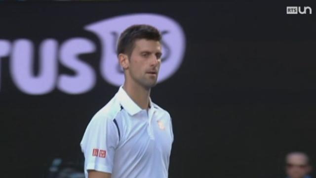 Tennis - Open d'Australie: Djokovic remporte difficilement le match face à Gilles Simon [RTS]