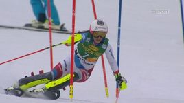 Slalom dames, 1re manche: Wendy Holdener (SUI) [RTS]