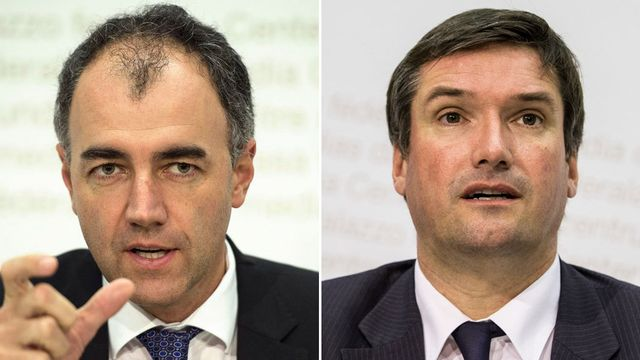 Christophe Darbellay et Christian Levrat. [Keystone]