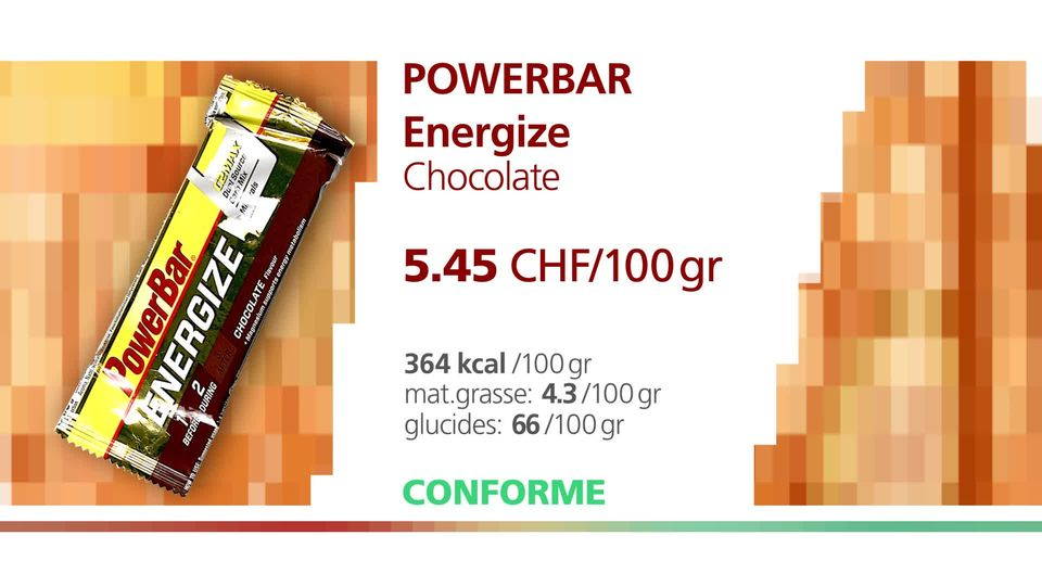La PowerBar Energize Chocolate. [RTS]
