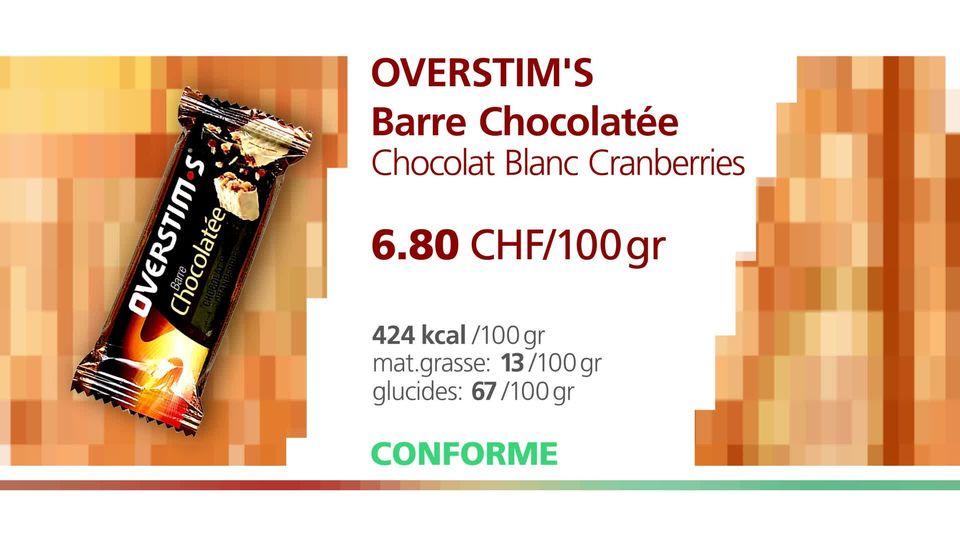 Overstim's Barre Chocolatée. [RTS]