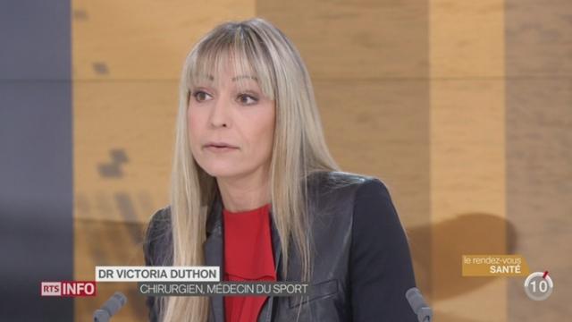 Rendez-vous santé: la chirurgienne Victoria Duthon évoque les nombreux risques ligamentaires liés à la pratique du ski [RTS]