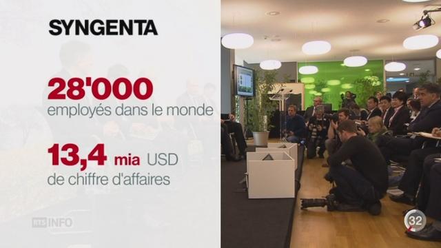 Le géant ChemChina va racheter le groupe Syngenta pour près de 44 milliards de francs [RTS]
