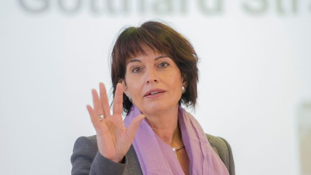 La conseillère fédérale Doris Leuthard. [Urs Flueeler - Keystone]
