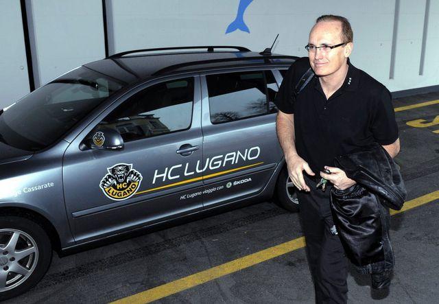 L'ancien entraîneur du HC Lugano Larry Huras, en avril 2013. [Karl Mathis - Keystone]