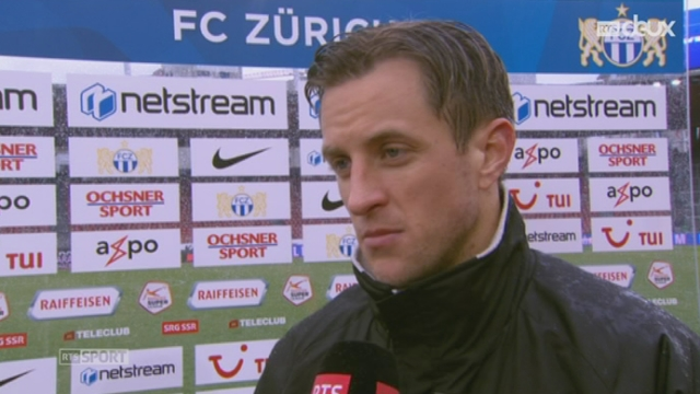 FC Zurich - FC Sion (0-1): interview de Reto Ziegler [RTS]