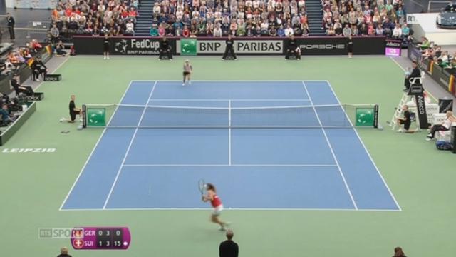 Tennis - Fed Cup: l'équipe de suisse atteint les demi-finales [RTS]