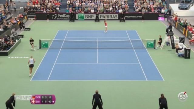 Tennis - Fed Cup: les Suissesses se qualifient pour la demi-finale [RTS]