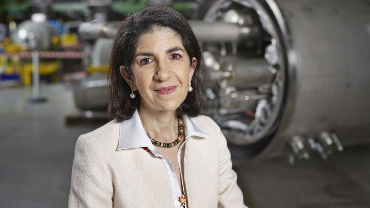 Fabiola Gianotti, directrice du CERN. [Christian Beutler - Keystone]
