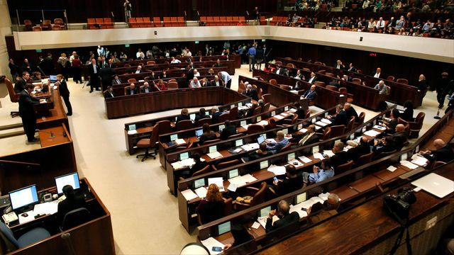 La Premier ministre israélien avait annoncé le 3 décembre sa volonté de dissoudre le Parlement. [Thomas Coex - AFP]