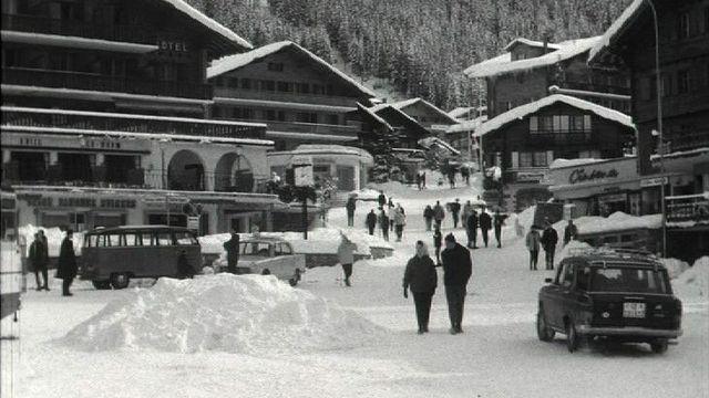 La station de Verbier en 1965. [RTS]