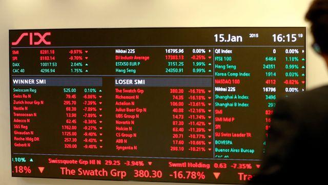 Le 15 janvier 2015, la bourse suisse avait déjà beaucoup plongé. [Arnd Wiegmann - Reuters]