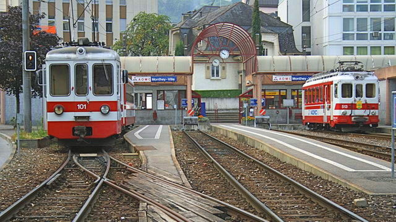 La gare AOMC de Monthey sera déplacée à proximité de la gare CFF. [Roehrensee - CC-BY-SA]