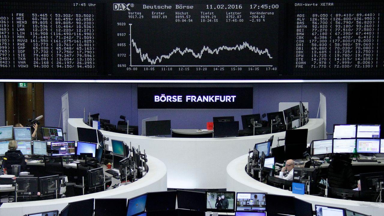 La bourse de Francfort, en Allemagne. [Reuters]
