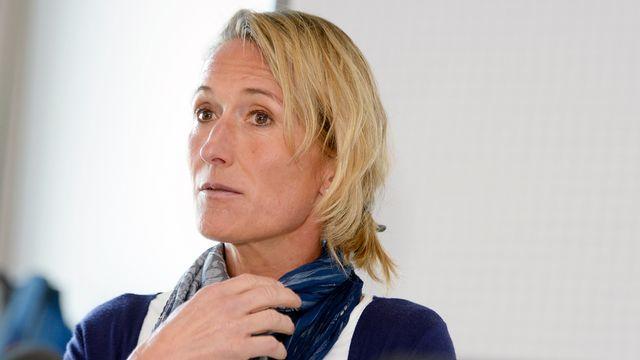 Susanne Hochuli lors de la conférence de presse donnée à son retour d'Erythrée. [Walter Bieri - Keystone]