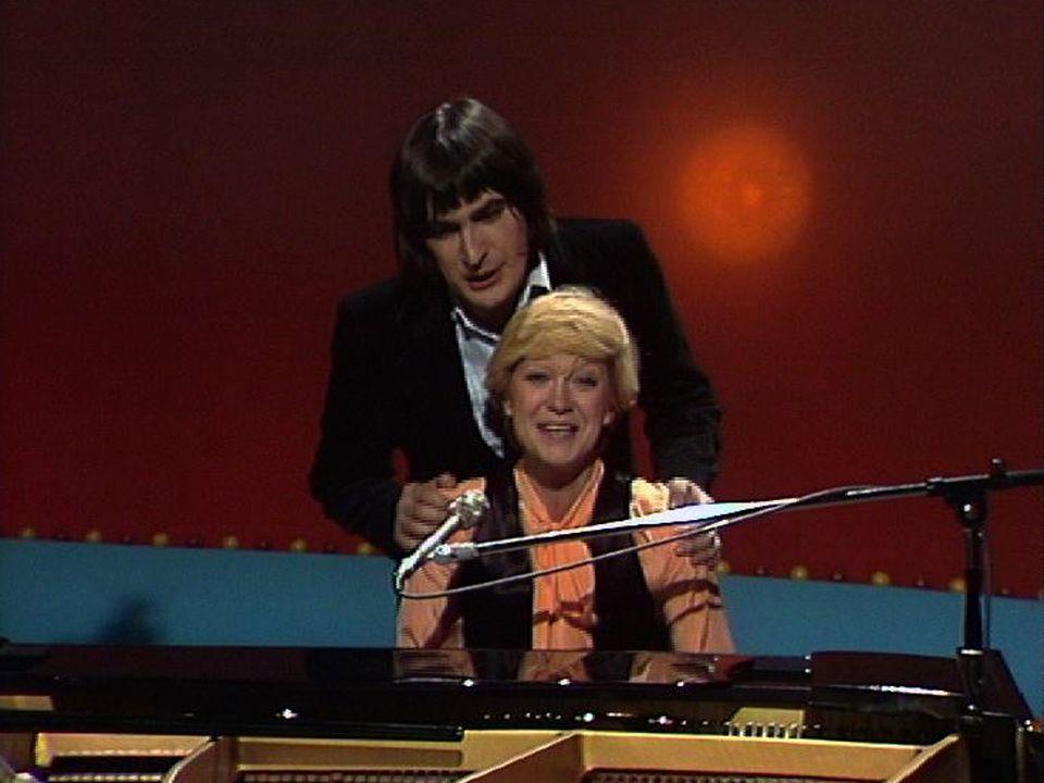 Alice Dona et Serge Lama en 1976. [RTS]