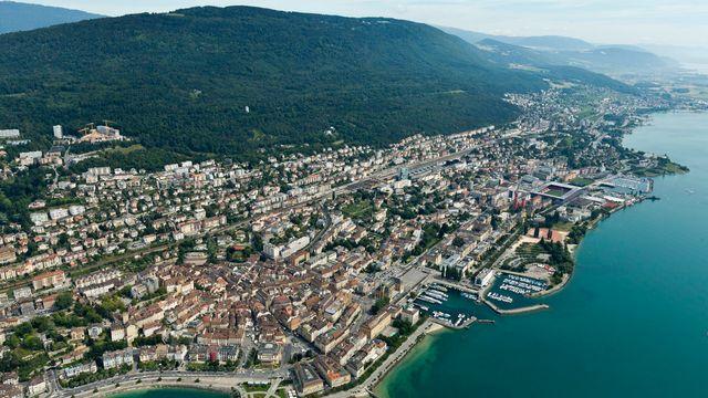 La ville de Neuchâtel. [Alessandro Della Bella - Keystone]