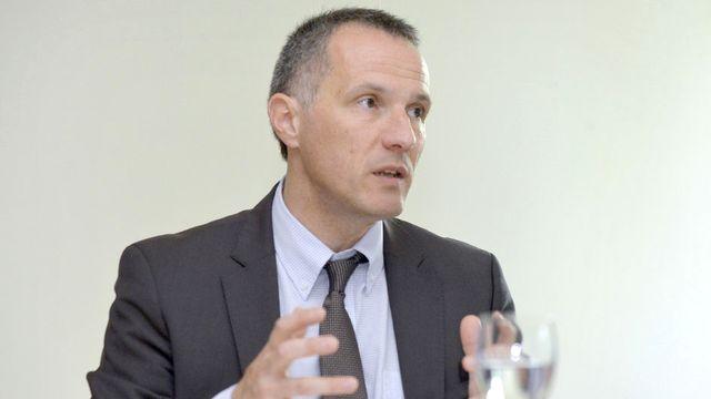 Le conseiller d'Etat neuchâtelois Laurent Kurth, en charge des Finances et de la Santé. [Christian Brun - Keystone]